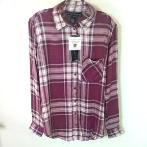 Women's 1X new shirt by Polly and Ester plaids